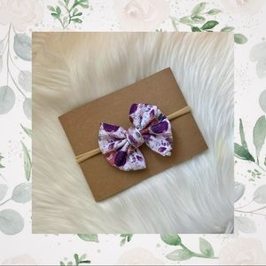 👑Plum Floral Clip In or Bow on Nylon!